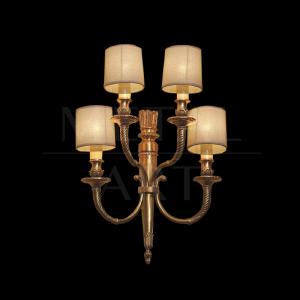 Luminária de Parede Clássica 4 Lâmpadas