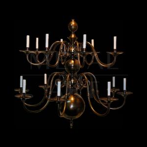 Luminária de Teto Clássica 12 Lâmpadas
